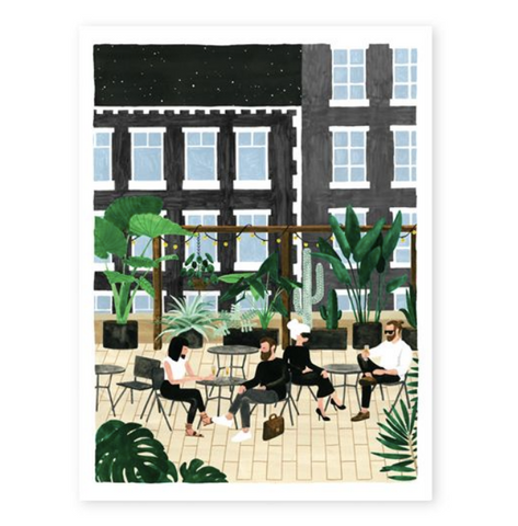 Art Print Rooftop Café (small)