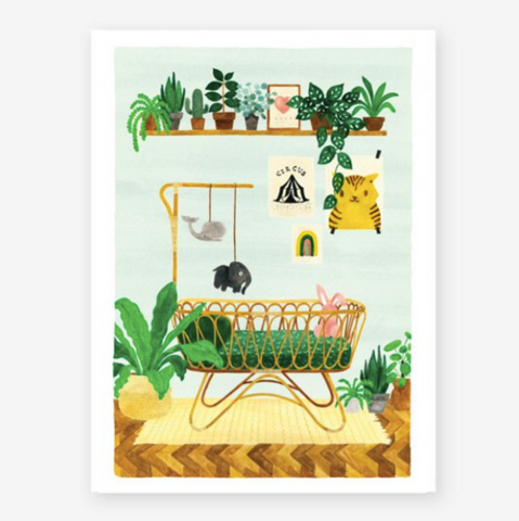Art Print Baby Bedroom (small)