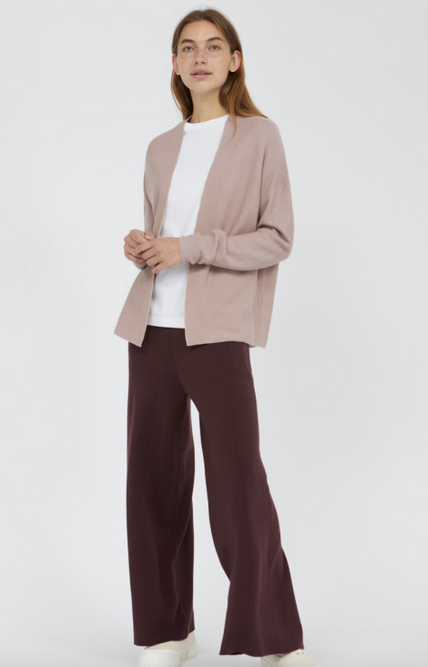 Softer Sommer Strick Cardigan, rose