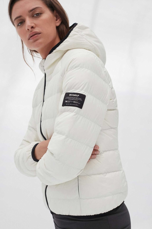 Ecoalf Jacke ASP, off-white recycled Nylon