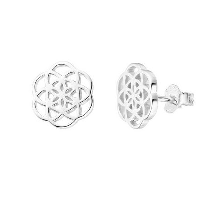 Ohrstecker Flower of Life, 925 Sterlingsilber