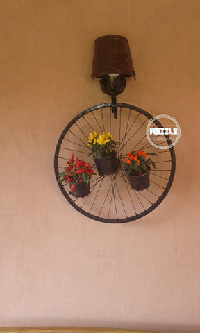 Bike Wheel Plant Pot Holder