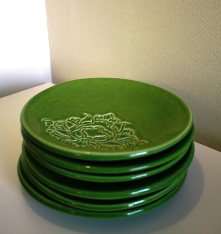 POTTERY PLATE GREEN (S)