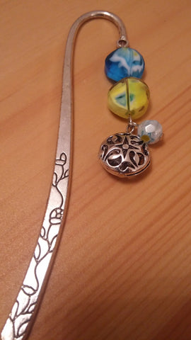 Marbled Stones Chrome Bookmark