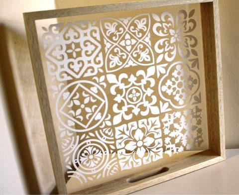 MOROCCAN WHITE TILE TRAY (S)