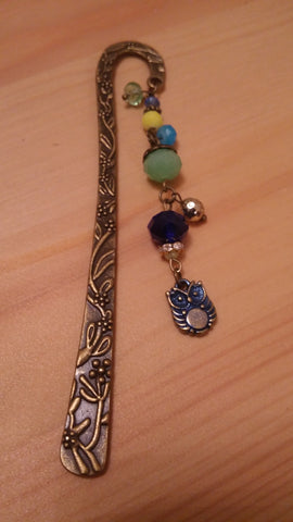 Owl Brass Bookmark