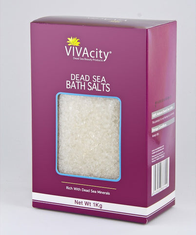 UNSCENTED WHITE BATH SALT CRYSTALS - 1000G