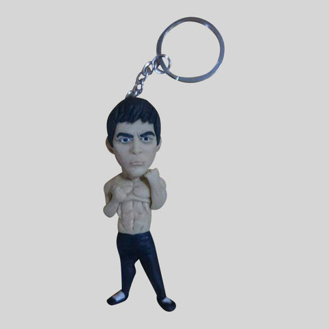 KEYCHAIN - Hand Sculpted 3D Figurine - BRUCE LEE