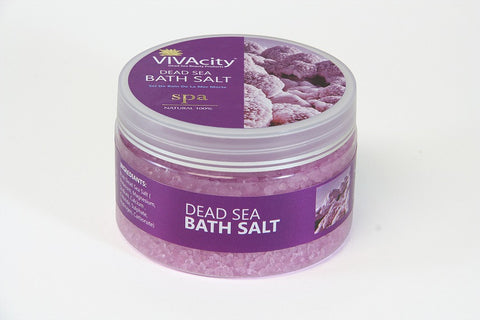 AROMATHERAPY BATH SALT WITH ESSENTIAL OIL (LAVENDER) - 250G