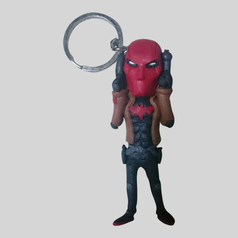 KEYCHAIN - Hand Sculpted 3D Figurine - REDHOOD (Batman)
