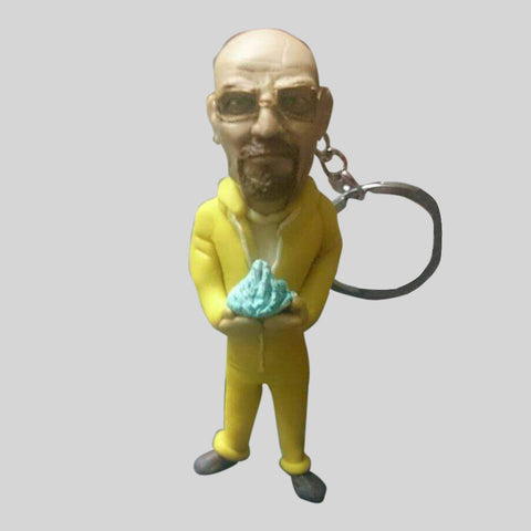 KEYCHAIN - Hand Sculpted 3D Figurine - WALTER WHITE (Breaking Bad)