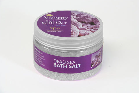 UNSCENTED WHITE BATH SALT CRYSTALS - 250G