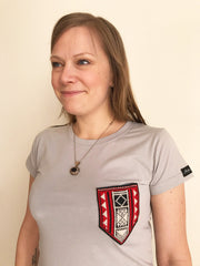 Women's T Shirt with Embroidered Pocket