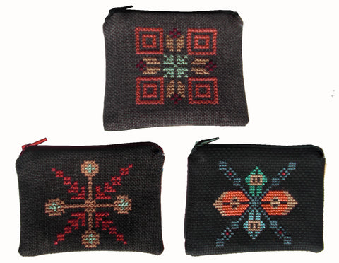 Small Embroidered Coincase