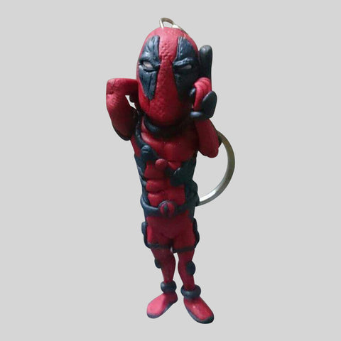 KEYCHAIN - Hand Sculpted 3D Figurine - DEADPOOL.