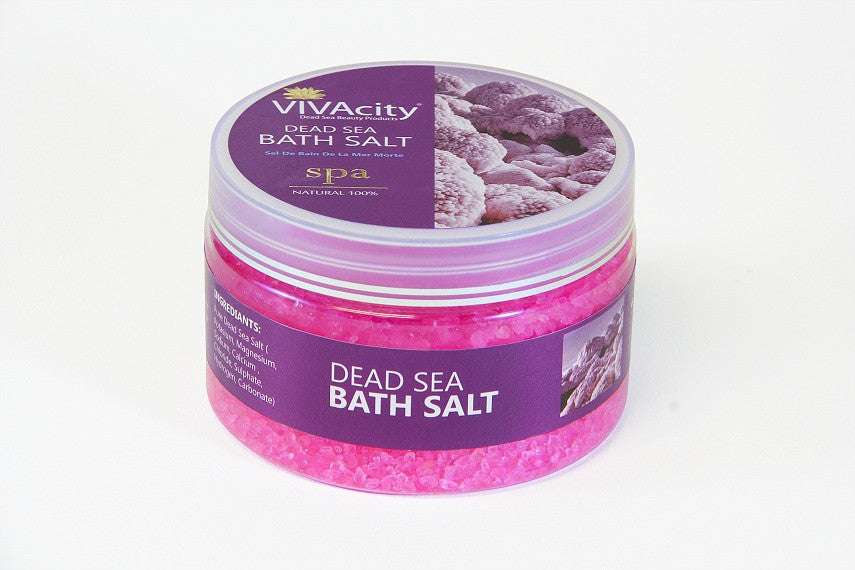 AROMATHERAPY BATH SALT WITH ESSENTIAL OIL (ROSE) - 250G