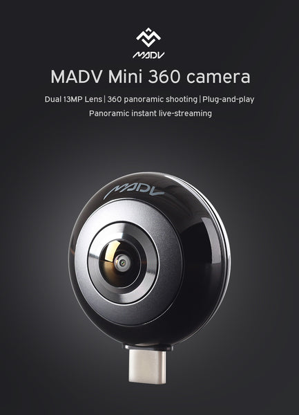 MADV Mini 360 Camera for Android, 13MP, 5K Photo, HD Video, Live Streaming - 360 Cameras - MADV Technology - PANEZA