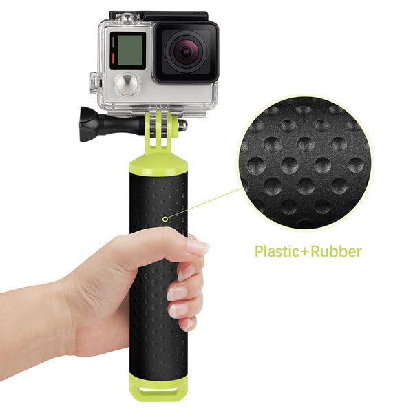 Powstro Waterproof Floating Hand Grip Mount Handle Pole Diving Stick Handheld Monopod for GoPro Hero 6/5/4 Session 3+ 3 2 1 -  - PANEZA - PANEZA