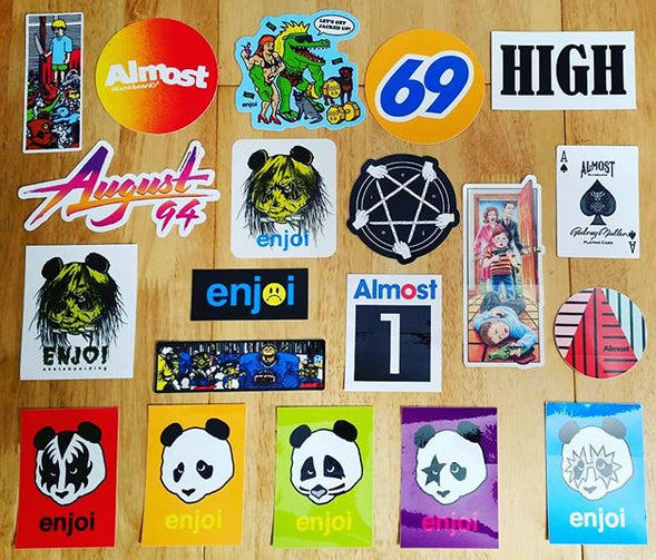 Brand new stickers from 101, Almost and Enjoi - including Zorlac / Pushead & KISS tributes!