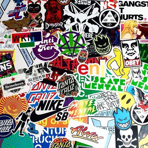 Tons of stickers just added to skateboardstickers.com. Be quick!!