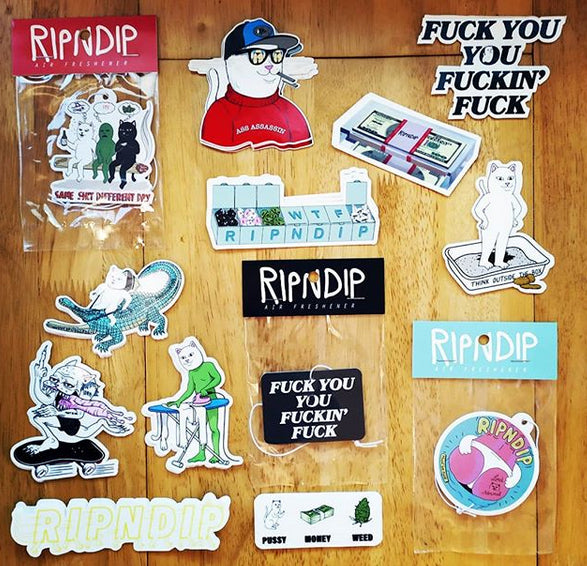 New Ripndip Stickers and Air Fresheners new in.