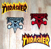 Thrasher Flame and Pentagram Stickers Back In Stock