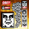 A bunch of classic Obey Stickers back in stock on and online now.