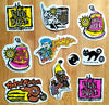 Daily Deal - Set of 10 New Deal Skateboard Stickers
