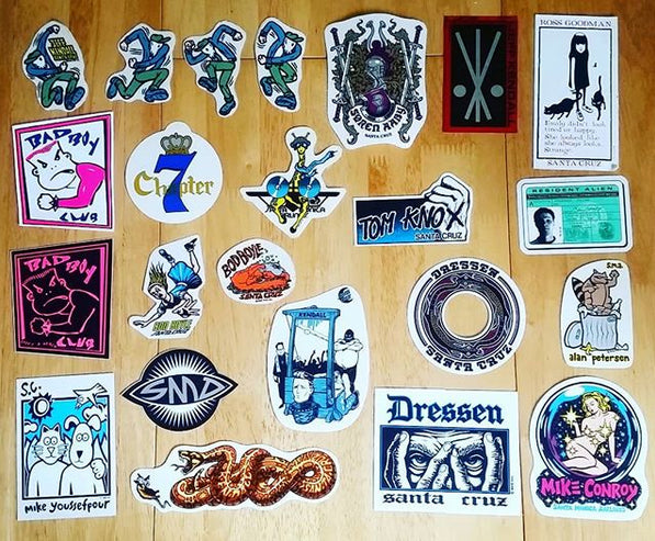 Old School Stickers just added from Santa Cruz, SMA, Life's a Beach, Chapter 7