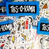 NEW IN - Polar Skate Co - TBS-O-RAMA Skateboard Sticker Pack of 26 Stickers