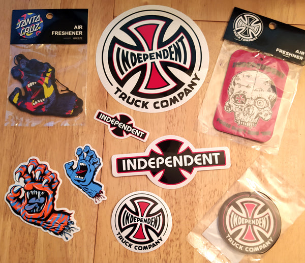 Santa Cruz & Independent Trucks Stickers & Air Fresheners Back In!