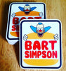 Prime LA Bart Simpson x Jason Lee Burger Skateboard Stickers just added