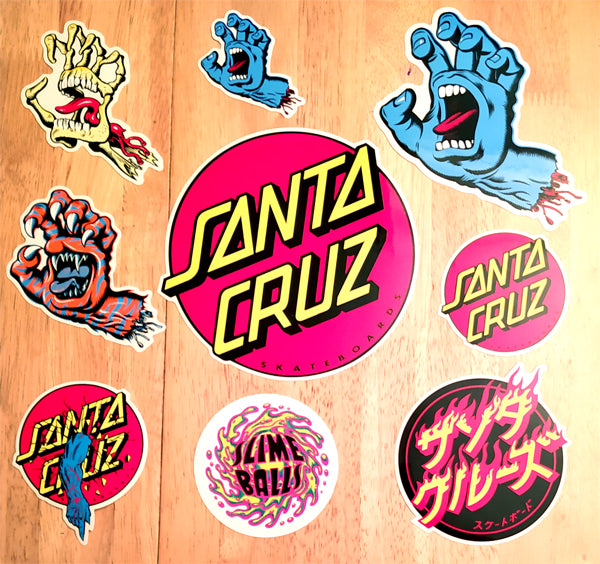 Brand New Stickers from Santa Cruz, along with the Classics!!