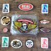Stickers and Patches restock from Santa Cruz, Thrasher, Powell, Real & Bones