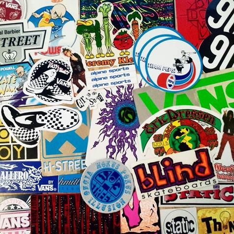 Old School Skate Stickers just added!