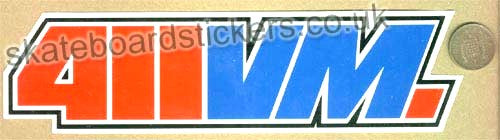 411 Video Magazine Skateboard Sticker