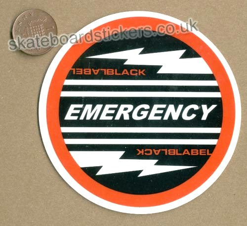 Black Label - Emergency Skateboard Sticker