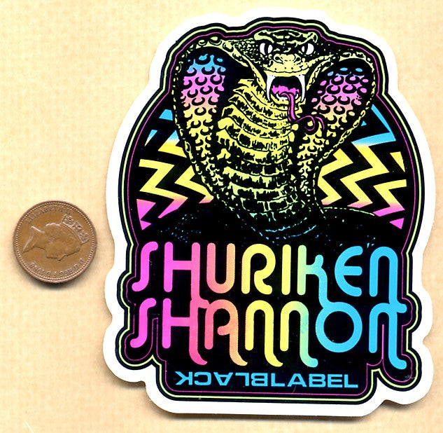 Black Label - Shuriken Shannon Skateboard Sticker