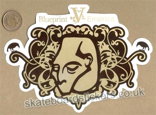 Blueprint V Emerica Skateboard Sticker