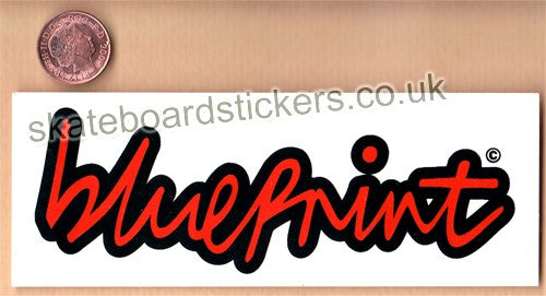 Blueprint Skateboard Sticker