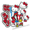 Girl X Hello Kitty 45th Anniversary Skateboard Sticker Pack & Pins New In