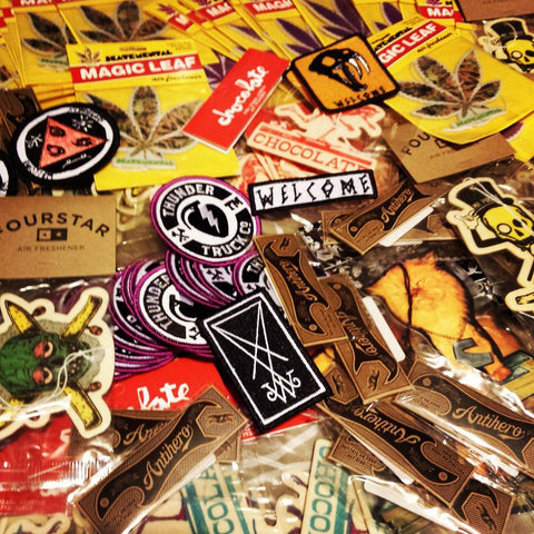 A bunch of Skate Air Fresheners, Skate Patches & Keyrings added today!