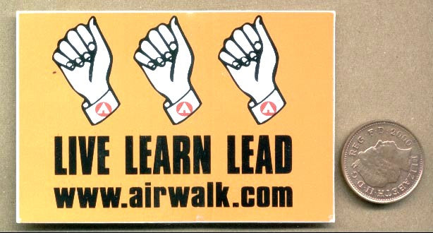 Airwalk Skateboard Sticker
