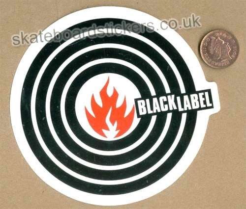 Black Label Skateboard Sticker