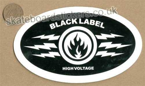 Black Label - High Voltage Skateboard Sticker