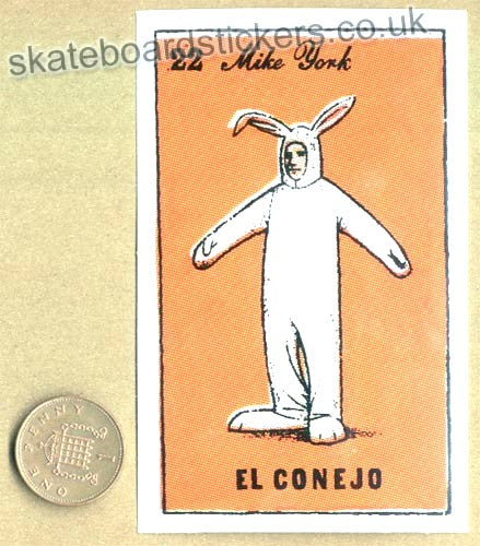Chocolate Skateboards - Mike York / El Conejo Skateboard Sticker