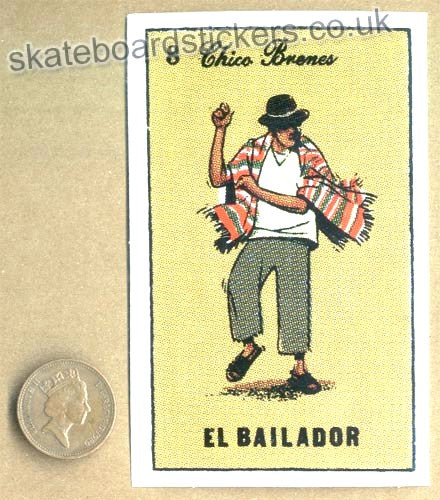 Chocolate Skateboards - Chico Brenes / El Bailador Skateboard Sticker