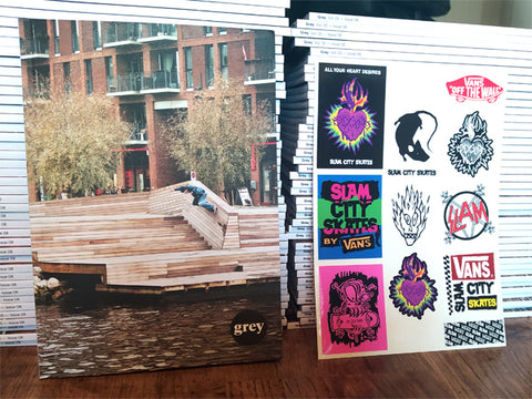 Grey Skate Mag Vol. 05 - Issue 8 - FREE!! & FREE STICKER SHEET!!