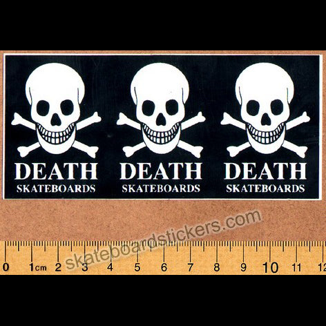 Death Skateboards Skateboard Sticker