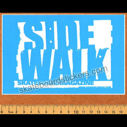 Sidewalk Magazine Skateboard Sticker